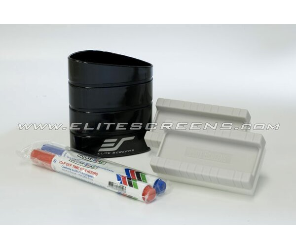 5 Piece White Board Screen  Pens and Eraser Set by Elite Screens