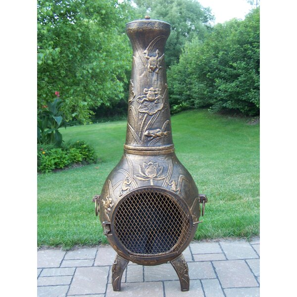 Frogs Cast iron Wood Burning Chiminea by Oakland Living