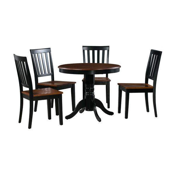 Erica 5 Piece Solid Wood Dining Set by Alcott Hill