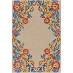 Order Dimaggio Hand-Tufted Poppy Red/Turquoise Indoor/Outdoor Area Rug By Bungalow Rose