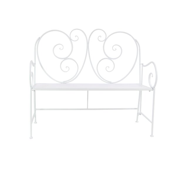 Cedarvale Traditional Scroll Patio Iron Garden Bench by Ophelia & Co.