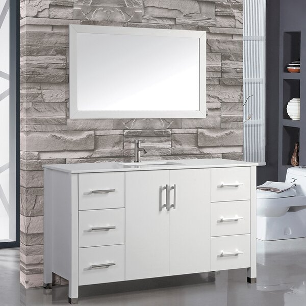 Prahl 60 Single Sink Bathroom Vanity Set with Mirror by Orren Ellis