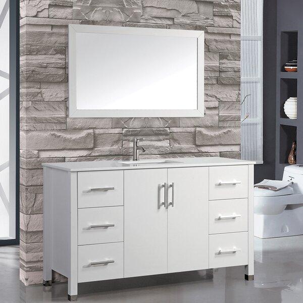 Prahl 60 Single Sink Bathroom Vanity Set with Mirror by Orren Ellis