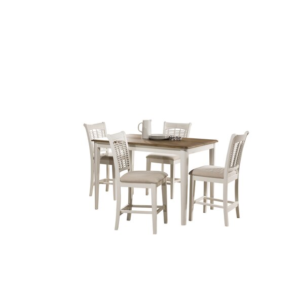 Hartling Bayberry 5 Piece Counter Height Dining Set by August Grove