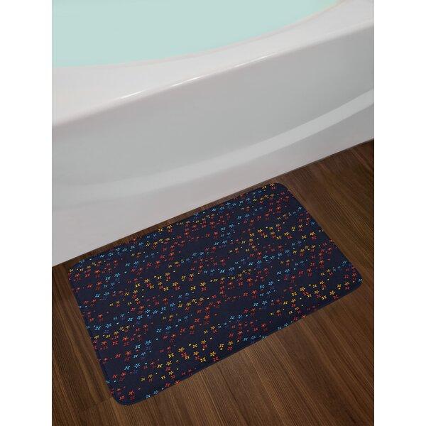 Vibrant Dark Blue Bath Rug by East Urban Home