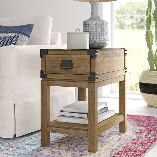 Chasity End Table with Storage by Mistana