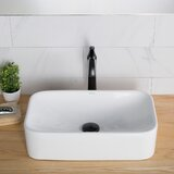 Elavo Ceramic Rectangular Vessel Bathroom Sink by Kraus