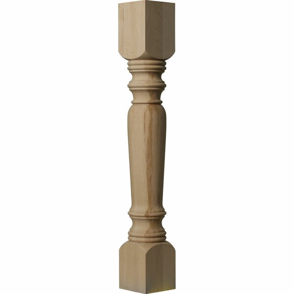 Legacy 35 1/2H x 5W x 5D Tapered Cabinet Column in Alder by Ekena Millwork