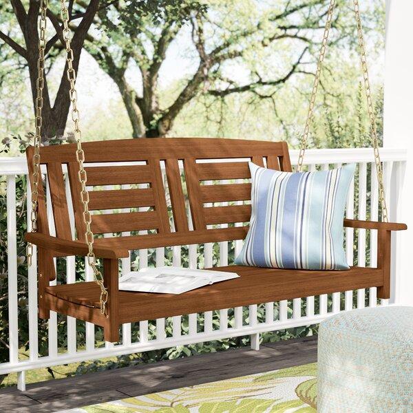 Arianna Hardwood Hanging Porch Swing by Langley Street