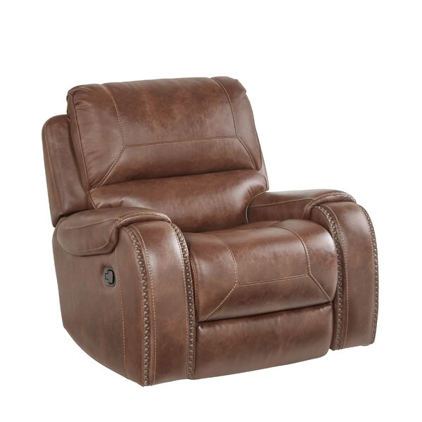 Stampley Air Nailhead Manual Glider Recliner By Millwood Pines