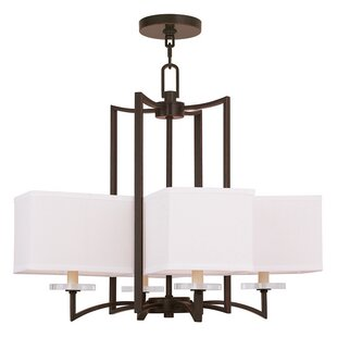 Amenia 4-Light Shaded Chandelier by Latitude Run