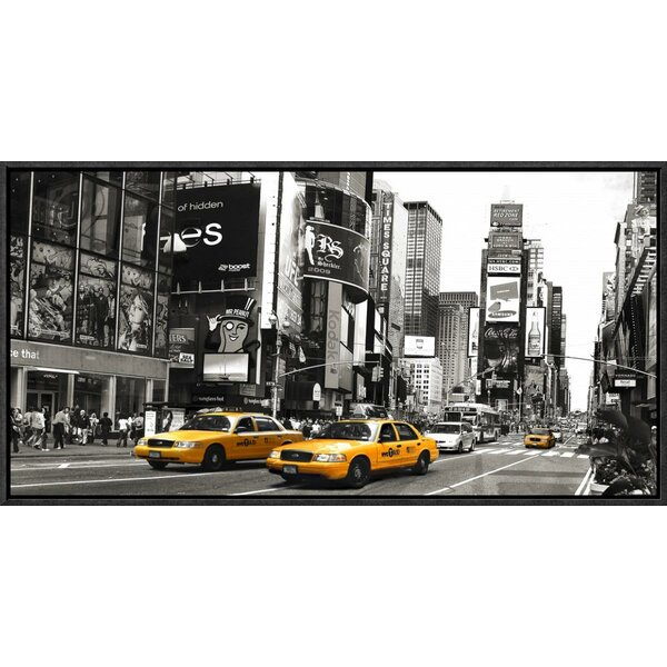 Taxi in Times Square, New York City Framed Photographic Print on Canvas by Global Gallery
