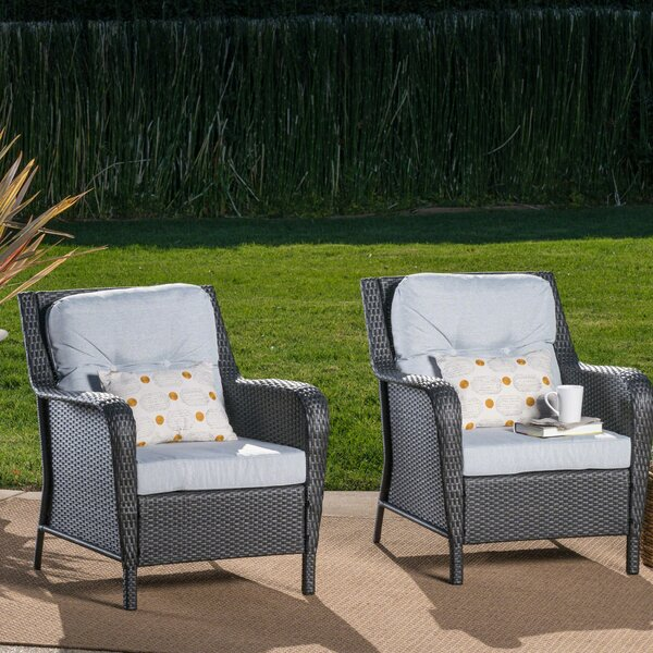 Gilmer Patio Chair with Cushion by August Grove