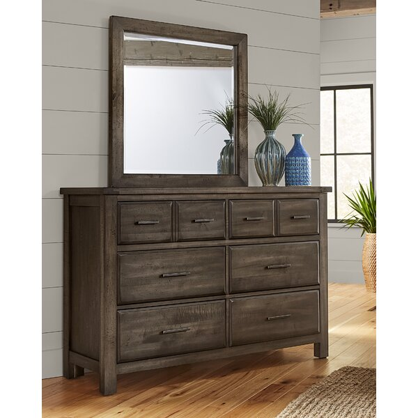 Walkerville 6 Drawer Dresser with Mirror by Loon Peak