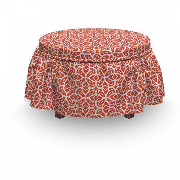 Lacy Floral Ottoman Slipcover (Set Of 2) By East Urban Home