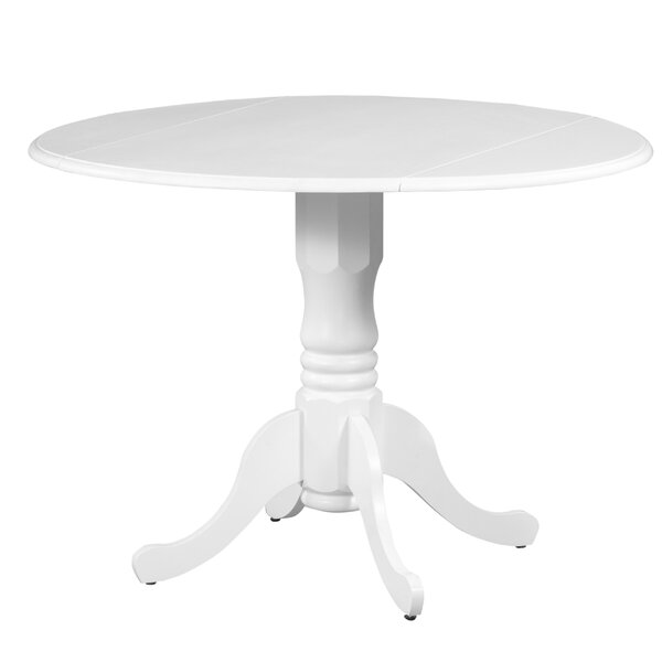 Brompton Drop Leaf Solid Wood Dining Table by Alcott Hill