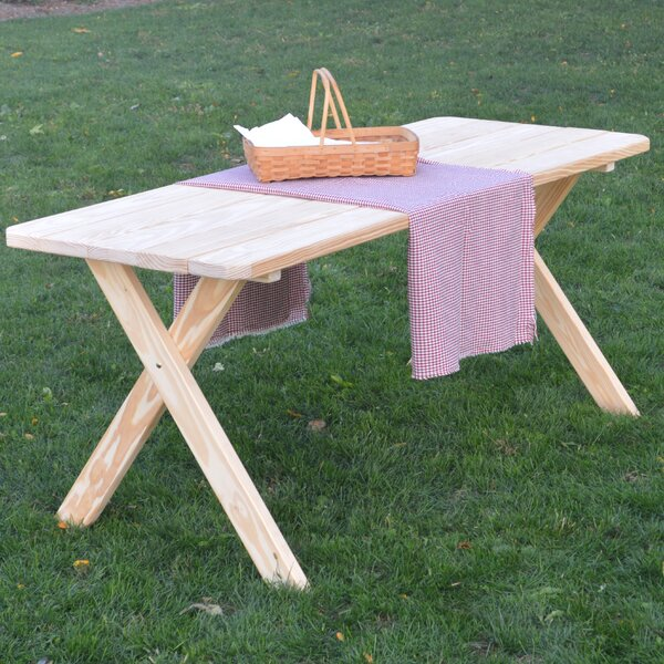 Unadilla Pine Cross-leg Picnic Table by Loon Peak