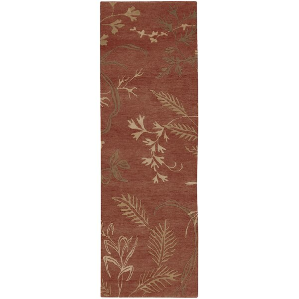 Howland Floral Hand-Knotted Wool Rust/Olive Area Rug