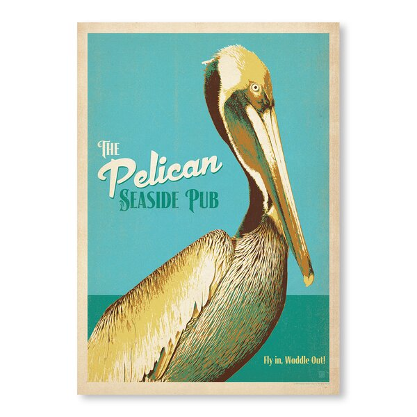 Pelican Pub Vintage Advertisement by East Urban Home