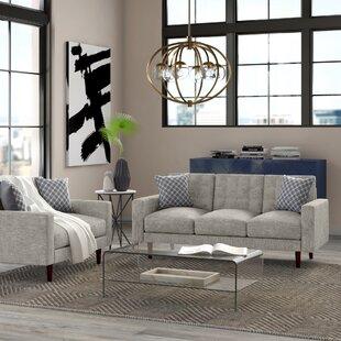 Wipert 2 Piece Velvet Living Room Set by George Oliver