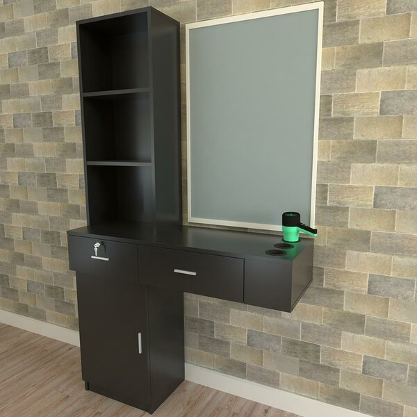 Rikwin Floating Desk with Hutch