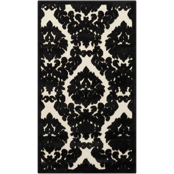 Hartz Ivory/Black Area Rug by House of Hampton