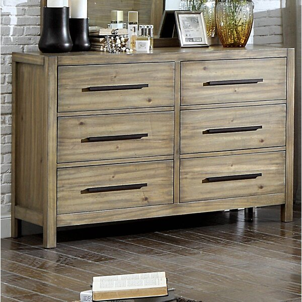 Peres 6 Drawer Double Dresser with Mirror by Union Rustic