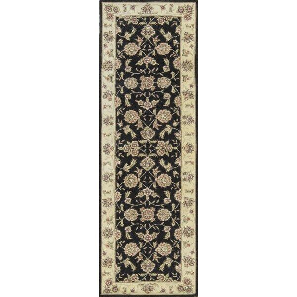 One-of-a-Kind Tabriz Hand-Knotted Black/Ivory Indoor Area Rug by Bokara Rug Co., Inc.