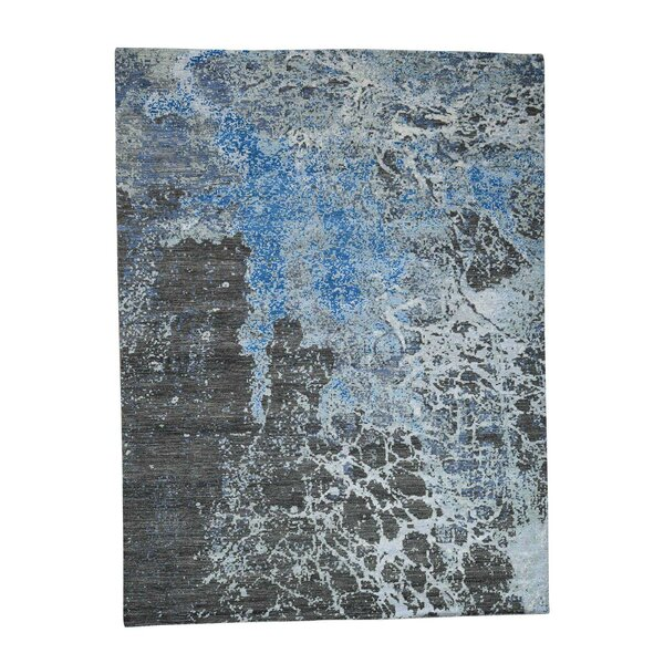 One-of-a-Kind Evendale Abstract Peshawar Oriental Hand-Knotted Brown Area Rug by World Menagerie