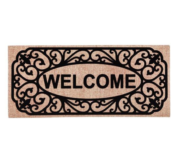 Columbard Filigree Welcome Sassafras Switch Doormat by Charlton Home