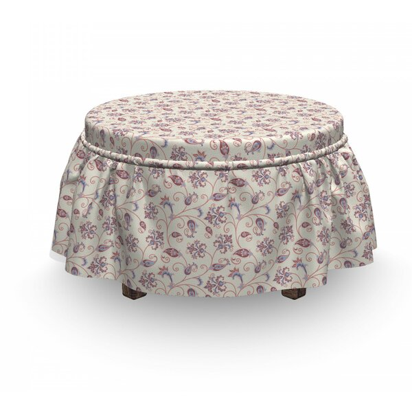 Vintage Floral Ottoman Slipcover (Set Of 2) By East Urban Home