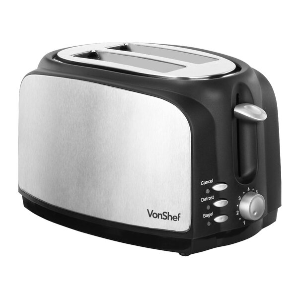 2-Slice Wide Slot Toaster with High Lift Lever by VonShef