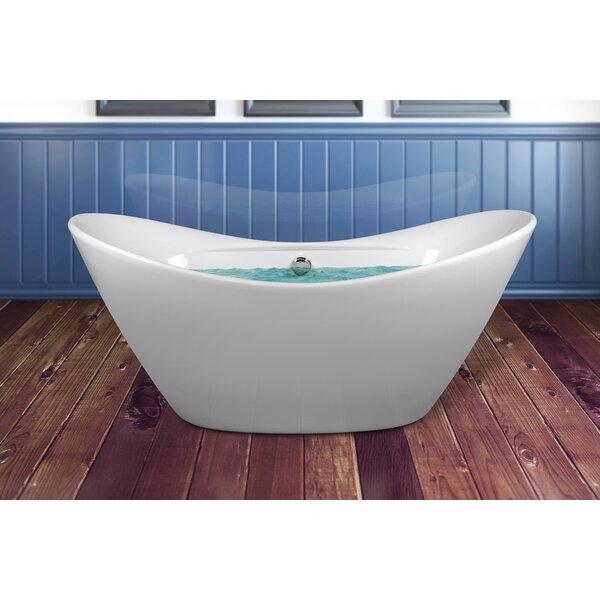 67 x 28.5 Soaking Bathtub with Faucet by AKDY