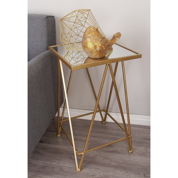 Giglio Metal and Mirror Tray 2 Piece End Table by Mercer41
