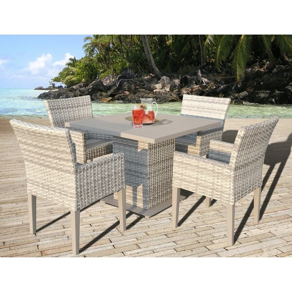 Ansonia 5 Piece Dining Set by Rosecliff Heights