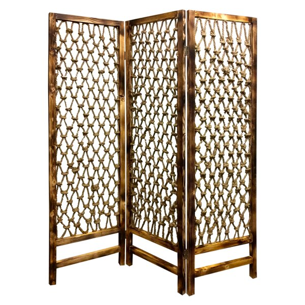 Rope Screen 3 Panel Room Divider by Screen Gems