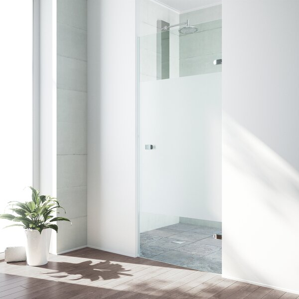 Tempo 28.5 x 70.63 Hinged Frameless Shower Door by