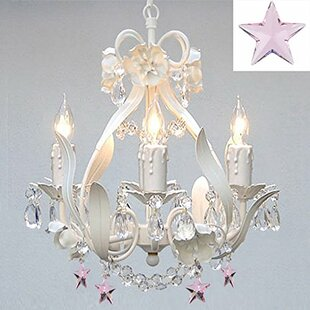 Kids chandeliers youll love wayfair barrie floral 4 light crystal chandelier aloadofball Choice Image