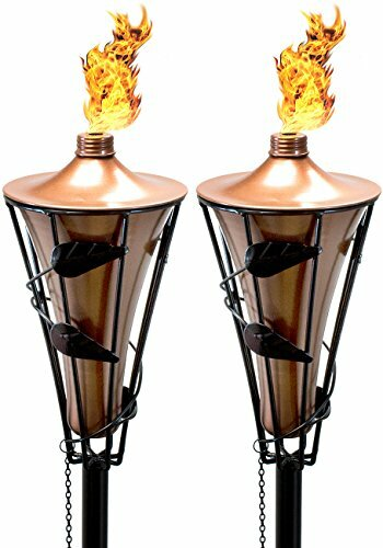 2 Metal Garden Torch (Set of 2) by Matney