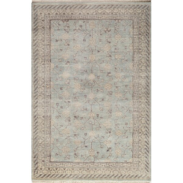 McDonough Hand-Knotted Light Blue Area Rug by One Allium Way