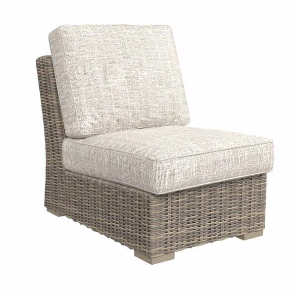Buff Patio Chair with Cushions by Greyleigh