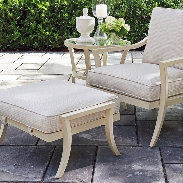 Misty Garden Outdoor Ottoman with Cushion by Tommy Bahama Outdoor