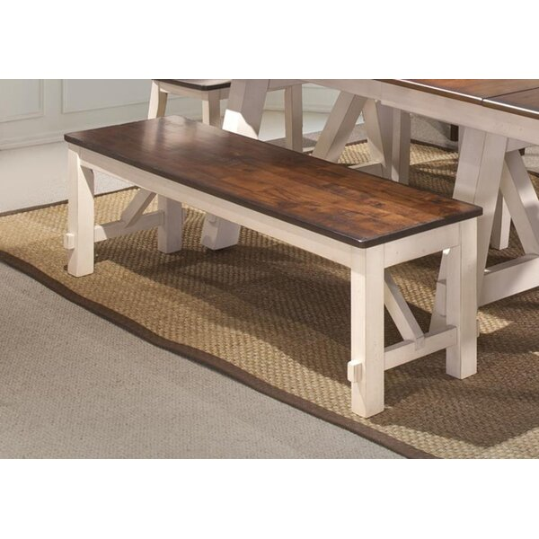 Keturah Farmhouse Solid Wood Bench by August Grove