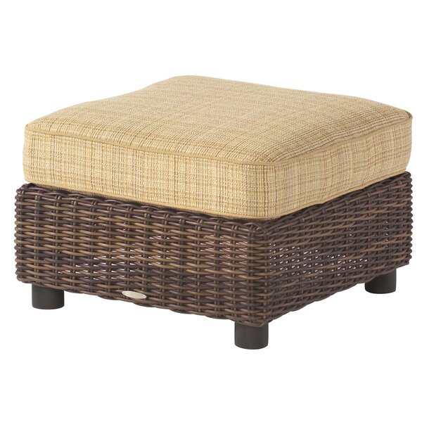 Sonoma Outdoor Ottoman with Cushion by Woodard