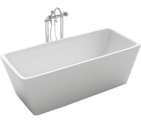 Garda 59.1 x 29.5 Freestanding Soaking Bathtub by Kokss