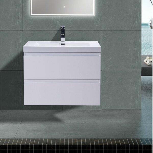 Lina 30 Wall Mounted Single Bathroom Vanity Set by Orren Ellis