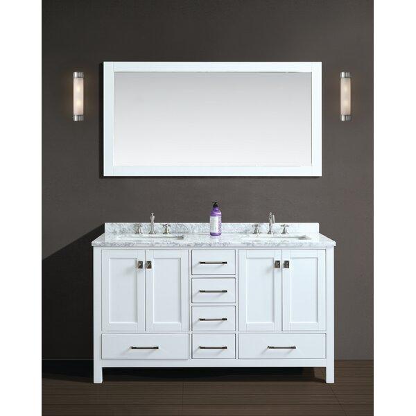 Werth 60 Double Bathroom Vanity Set with Mirror by Brayden Studio