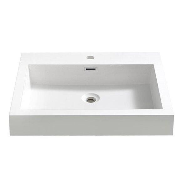 Alto Rectangular Drop-In Bathroom Sink with Overflow by Fresca
