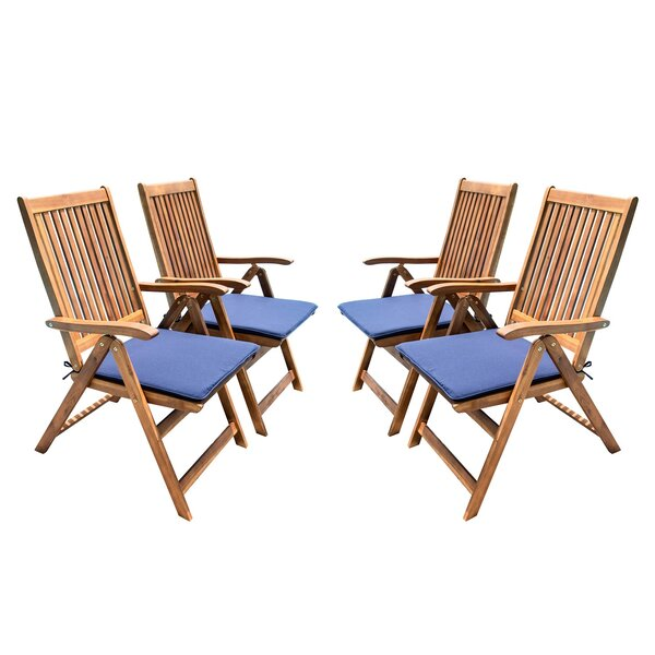 Nil Travel Recliner Patio Chair with Cushions (Set of 4) by Highland Dunes