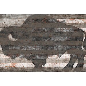 Buffalo II Painting Print on Wrapped Canvas by Trent Austin Design